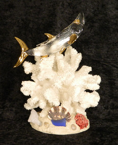 Blown Glass Anchor w/22kt gold accents, from Key West