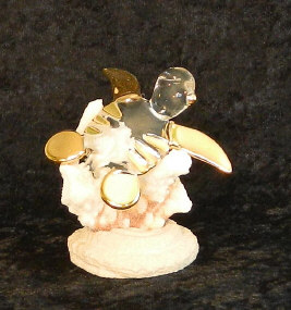 Hand Blown glass Turtle w/22kt gold accents, from Key West