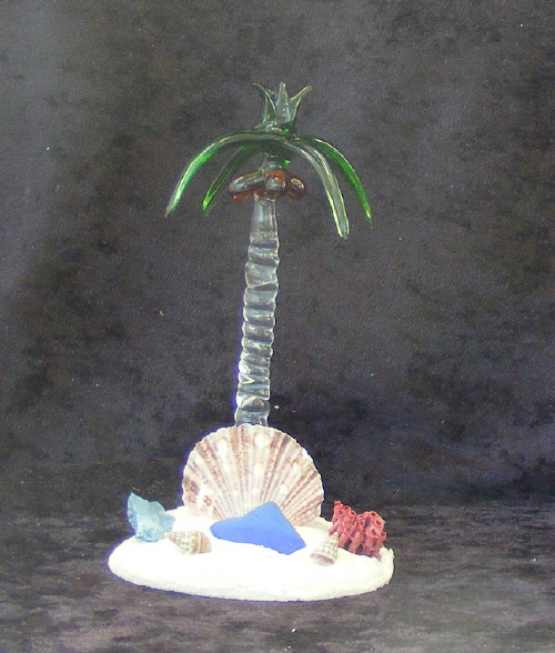 Hand Blown Glass Palm Tree